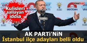 Ak Parti'nin İstanbul İlçe adayları belli oldu