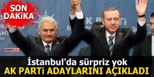 Ak Parti adaylarını açıkladı İstanbul'da sürpriz yok
