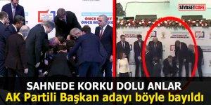 AK Partili Başkan adayı böyle bayıldı
