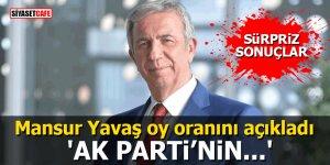 Mansur Yavaş oy oranını açıkladı: AK Parti'nin…