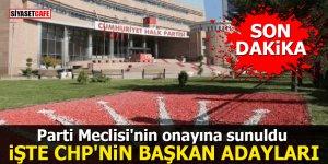 Parti Meclisi'nin onayına sunuldu: İşte CHP'nin Başkan adayları