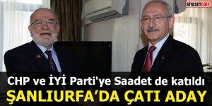 CHP ve İYİ Parti'ye Saadet de katıldı Şanlıurfa'da çatı aday