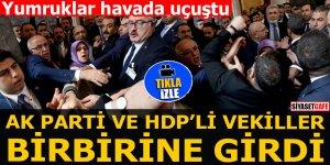 Ak Parti ve HDP'li vekiller birbirine girdi Yumruklar havada uçuştu