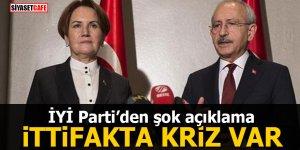İYİ Parti'den şok açıklama: İttifakta kriz var