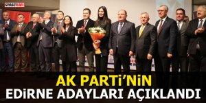 Ak Parti'nin Edirne adayları açıklandı