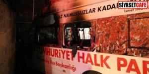 Sabotaj mı? CHP'nin seçim aracı yandı