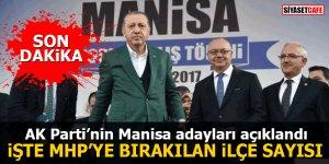 AK Parti'nin Manisa adayları açıklandı İşte MHP'ye bırakılan ilçe sayısı