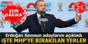 Erdoğan Samsun adaylarını açıkladı İşte MHP'ye bırakılan yerler