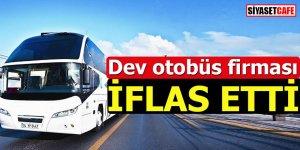 Bir dev otobüs firması daha iflas etti