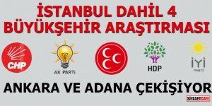 İstanbul dahil 4 Büyükşehir araştırması