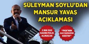 """Süleyman Soylu'dan Mansur Yavaş ve PKK açıklaması: """"Şah damarını kestik"""""""