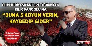 """Cumhurbaşkanı Erdoğan: """"Bay Kemal'e 5 koyun verin, inanın kaybedip gider"""""""