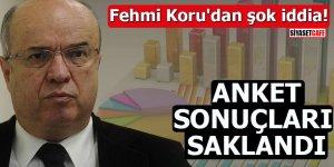 Fehmi Koru'dan şok iddia Anket sonuçları saklandı