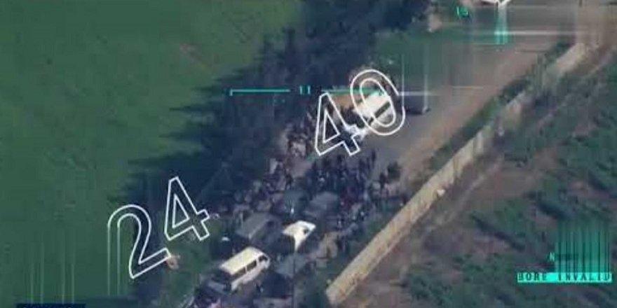 PKK sivilleri Afrin'den çıkarmıyor! İşte o şok görüntüler