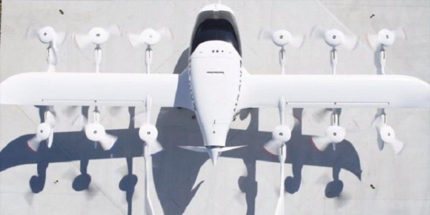 Google'ın kurucusu uçan taksiyi tanıttı
