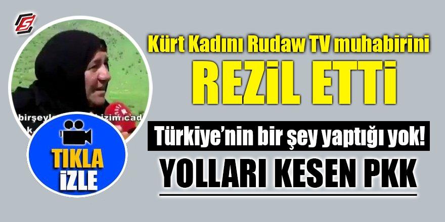 Kürt kadını Rudaw TV muhabirini rezil etti