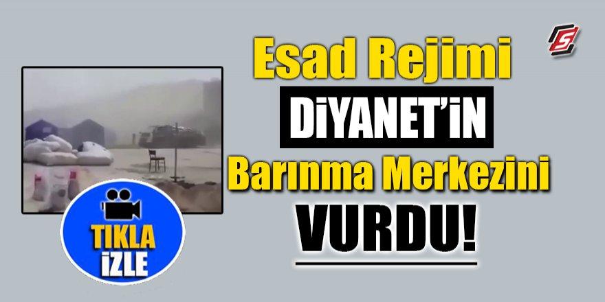 Esad rejimi Diyanet'in Barınma Merkezini vurdu