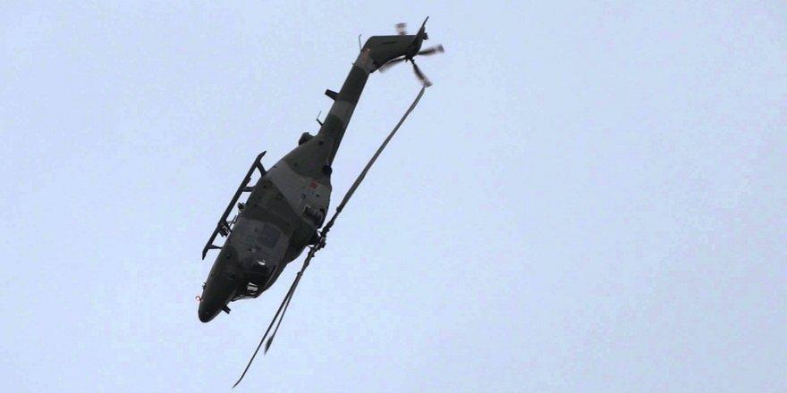 ATAK helikopteri havada takla attı
