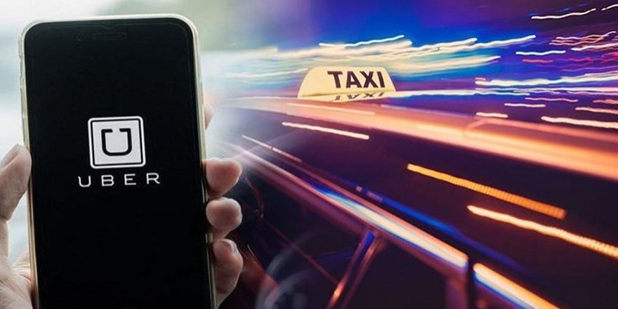 Taksiciler, UBER sürücüsünü tehdit etti