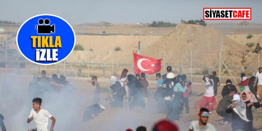 İsrail'den Türk bayrağına alçak saldırı