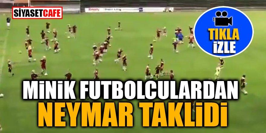 Minik futbolculardan Neymar taklidi