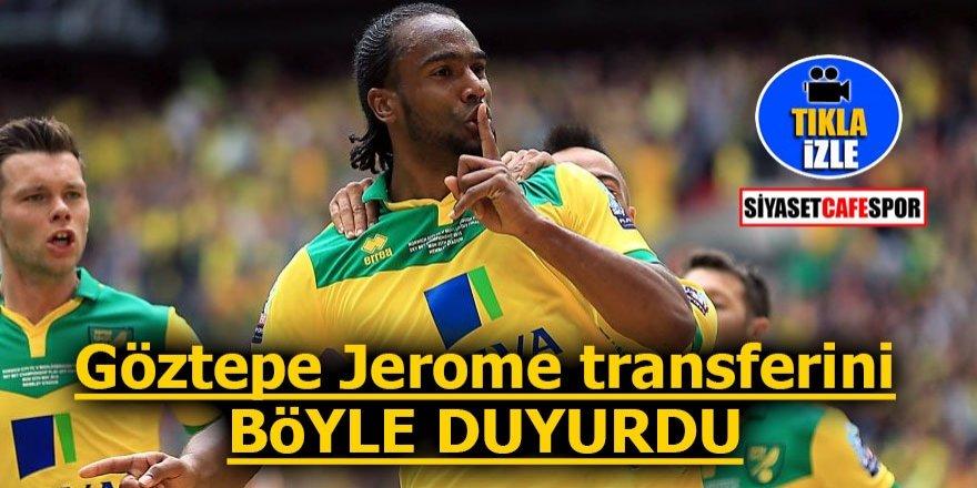 Göztepe Cameron Jerome transferini böyle duyurdu!