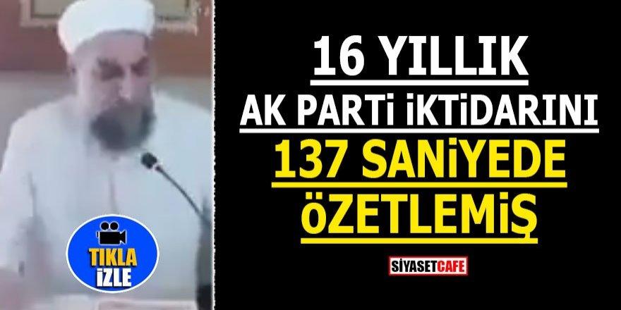 16 yıllık AK Parti iktidarını 137 saniyede özetlemiş