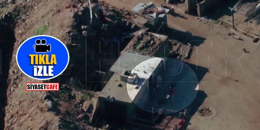 YPG'li teröristler TRT drone'una ateş açtı