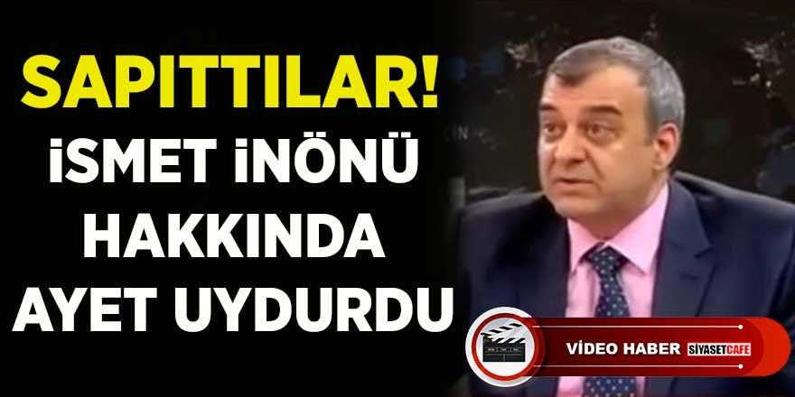 Mehmet Hakan Sağlam adlı akademisyenden İsmet İnönü'ye iftira