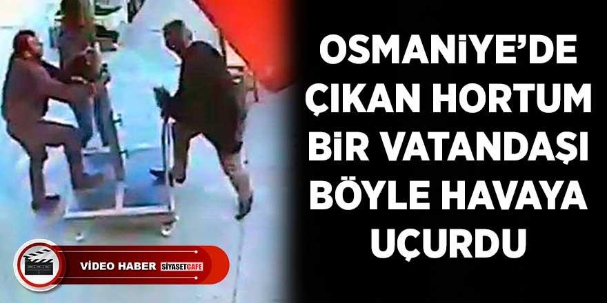 Osmaniye'deki hortum, vatandaşı böyle havaya uçurdu