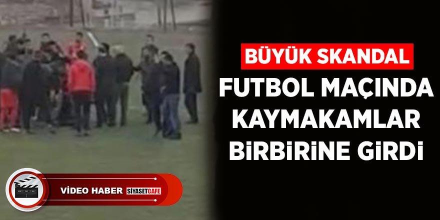 Böyle skandal görülmedi! Futbol maçında kaymakamlar birbirine girdi