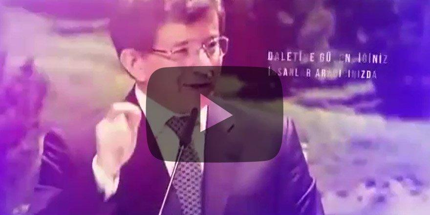 Davutoğlu'ndan yeni parti videosu