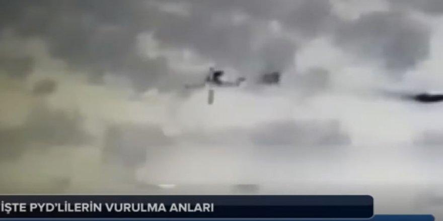 Afrin'de teröristlerin vurulma anı kameralarda