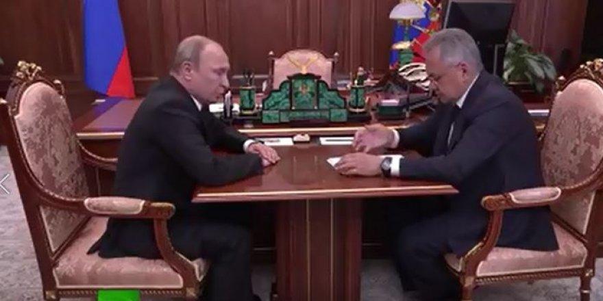 Vladimir Putin Savunma bakanı ile görüştü