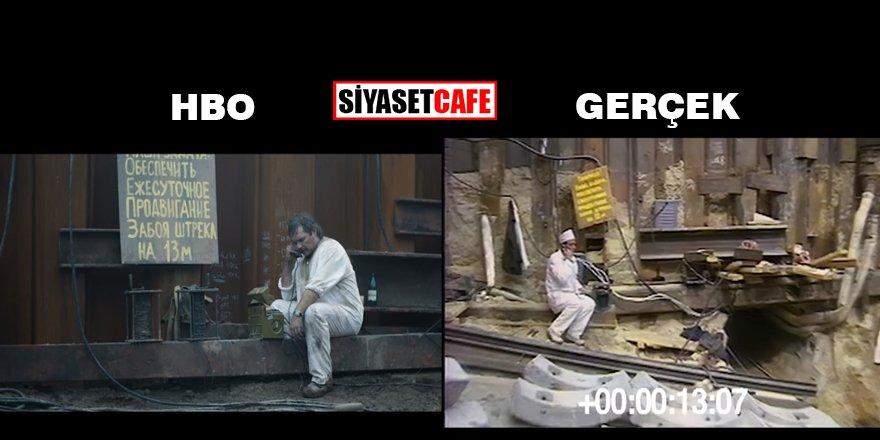Gerçek Çernobil ve HBO Chernobly görüntüleri karşılaştırma