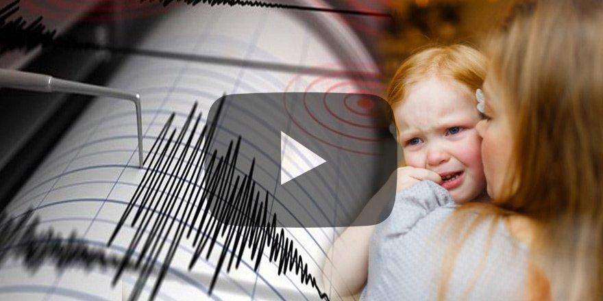 ABD'de deprem sırasında korku dolu anlar