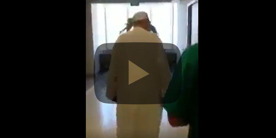 Menzil Şeyhinin hastane teftişi! Olay görüntüler