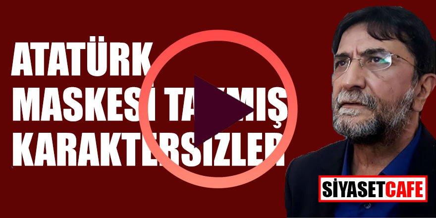 Atatürk maskesi takmış karaktersizler