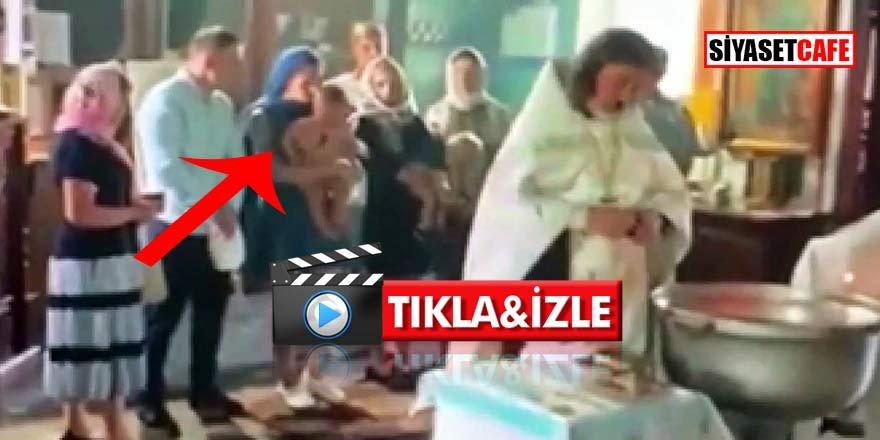 Cani papaz bebeği vaftiz ederken hastanelik etti!
