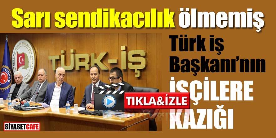 Türk İş Başkanı mikrofonunu açık unuttu, skandal sözleri herkes duydu  *