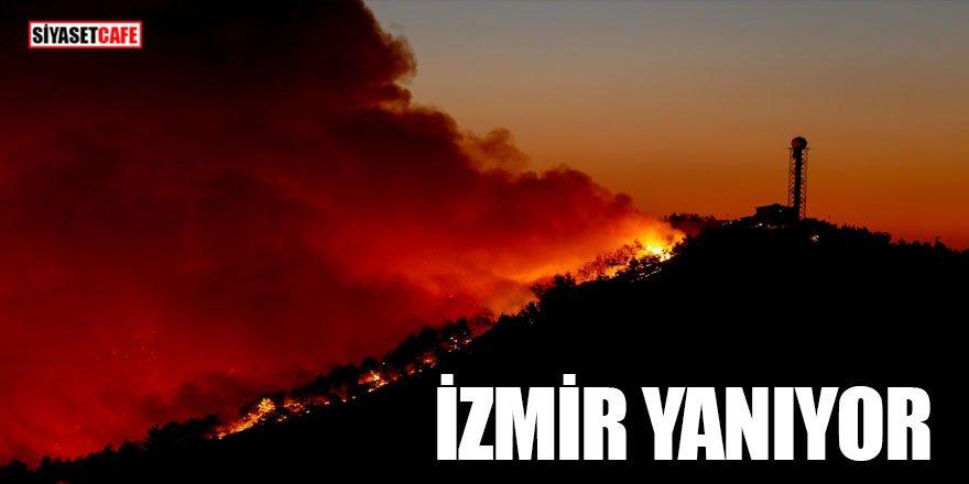 İzmir'deki yangın böyle görüntülendi