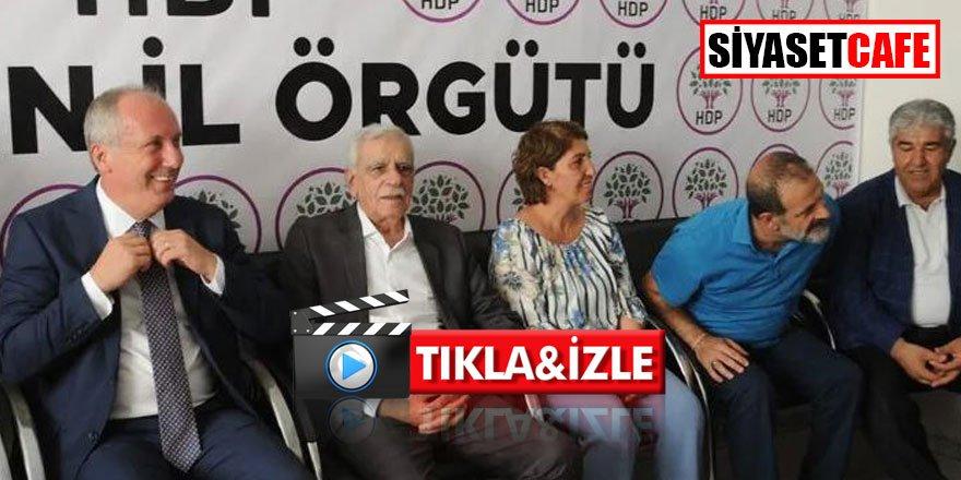Muharrem İnce'den HDP'lilerin huzurunda yanlış yaptık açıklaması- video