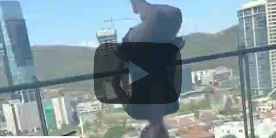 Yoga yaparken 24 metre yüksekten yere çakıldı