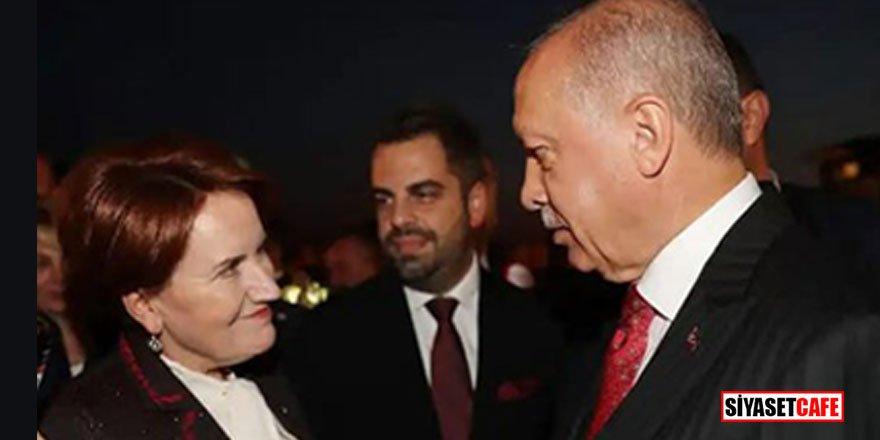 Resepsiyonda Akşener'in Erdoğan ilgisi