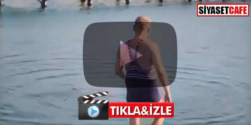 Atatürk'ün denize girdiği anlar ileri tekniklerle renklendirildi İşte duygulandıran o görüntüler