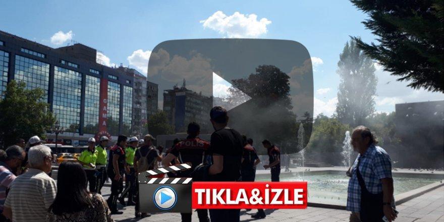 Ankara'nın göbeğinde büyük şok Meydanda kendini yaktı