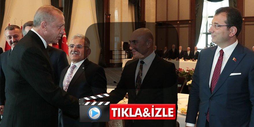 Erdoğan belediye başkanlarıyla buluştu 'Ne personelle, ne araçlarla uğraştık'