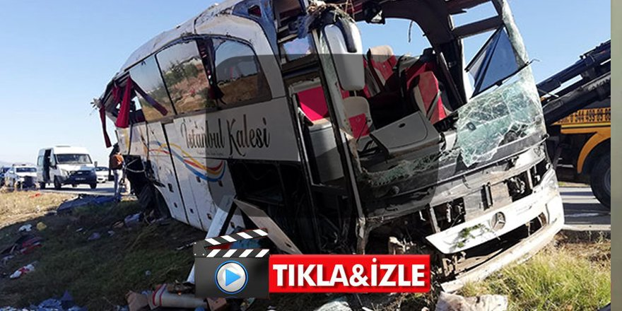Lastiği patlayan yolcu otobüsü devrildi: 1 ölü 40 yaralı