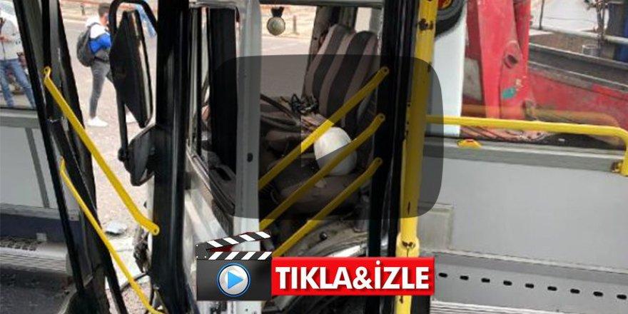Ümraniye'de kamyon ile halk otobüsü çarpıştı: 9 yaralı