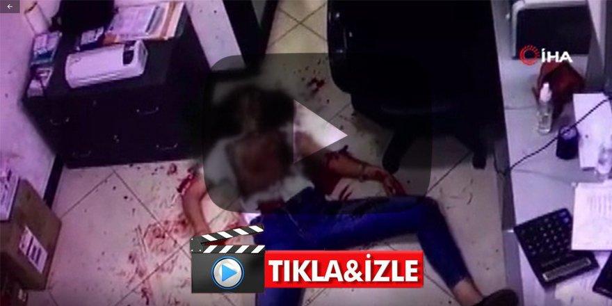 Eski eşini defalarca bıçakladı Vahşet kameralarda